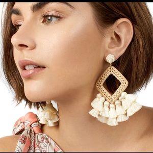 Massive long dangle earrings